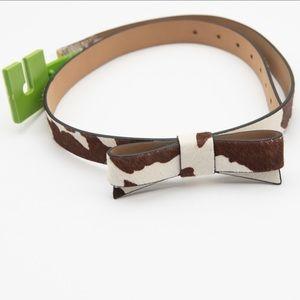 Kate Spade Cow Print Cowhide Belt